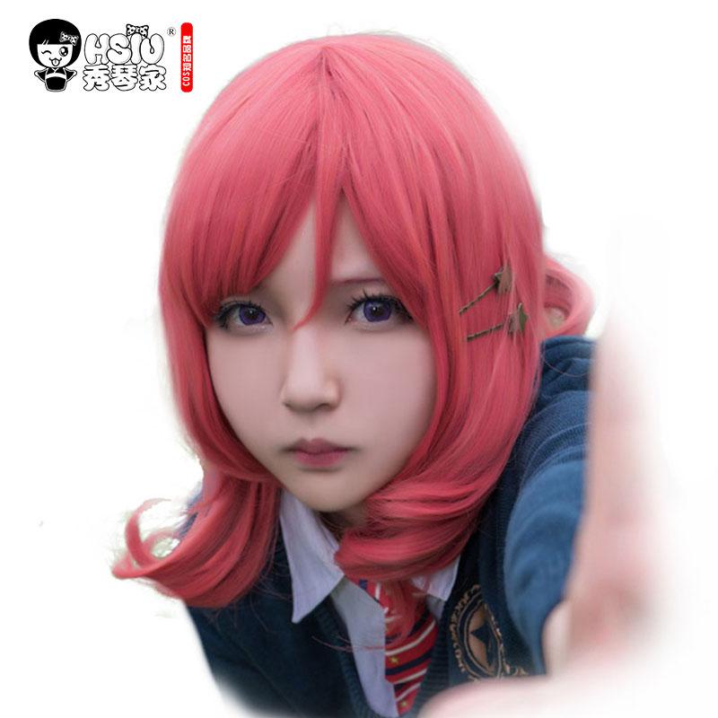 ¡HSIU LoveLive! Peluca de Cosplay Love Live Maki, traje Nishikino para adultos, pelucas de Anime para Halloween, envío gratis