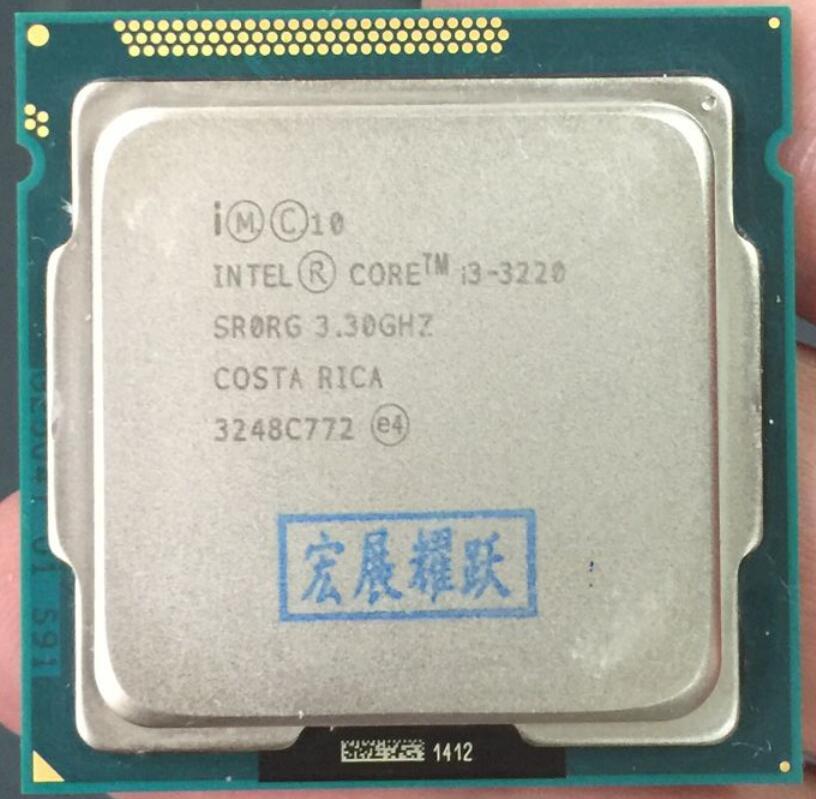 Processeur Intel Core i3-3220 i3 3220, Cache 3M, 3.30 GHz, LGA1155 Dual Core, PC de bureau, CPU