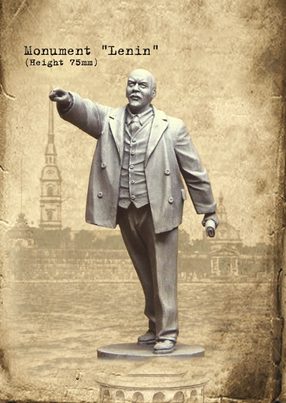 Nuevo Kit de figuras de soldado sin montar 1/35 monumento Lenin (altura 75mm) Kit de resina DIY juguetes sin pintar kits