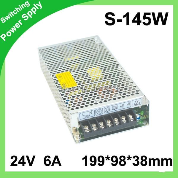 (S-145-24) tomada de Fábrica 145 w DC fonte de alimentação 24 v 6a comutação da fonte de alimentação