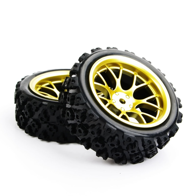 Купить с кэшбэком HOT SALE4pcs/set racing off road tires 12mm hex rubber tyre wheel rim fit for RC 1:10 vehicle car truck toys parts accessories