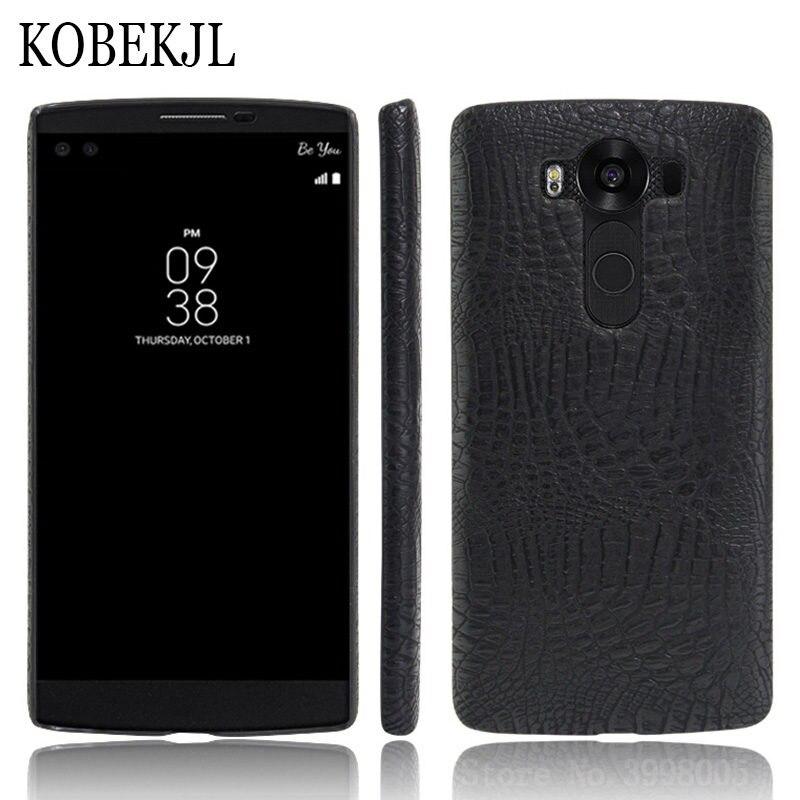 Para LG V10 caso LG V10 caso 5,7 de cocodrilo de cuero de la PU de la caja del teléfono para LG V10 V 10 H961S h961 H960 H960A F600 H968 LGV10 caso