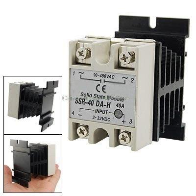 IMC de CC caliente a ca de fase única de relé de estado sólido SSR-40DA 40A 90-480V Ca + disipador de calor