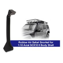 1:10 tubo de escape decorativo de goma esnórquel de Safari para Axial SCX10 II 90046 90047 Cherokee cuerpo coche Shell coche trepador de control remoto