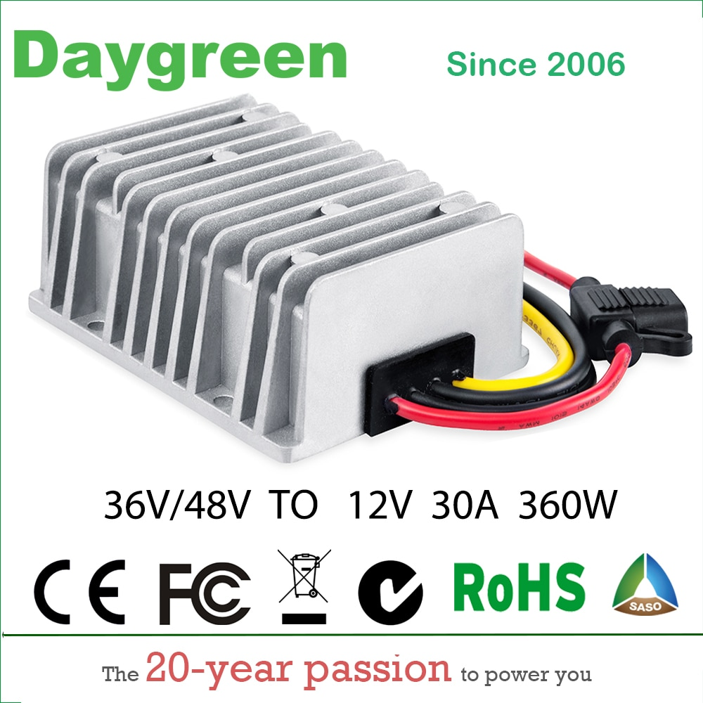 Reductor de voltaje de carrito de Golf 48V a 12V 30 a 360W DC convertidor reductor CE RoHS modelo aislado impermeable certificado