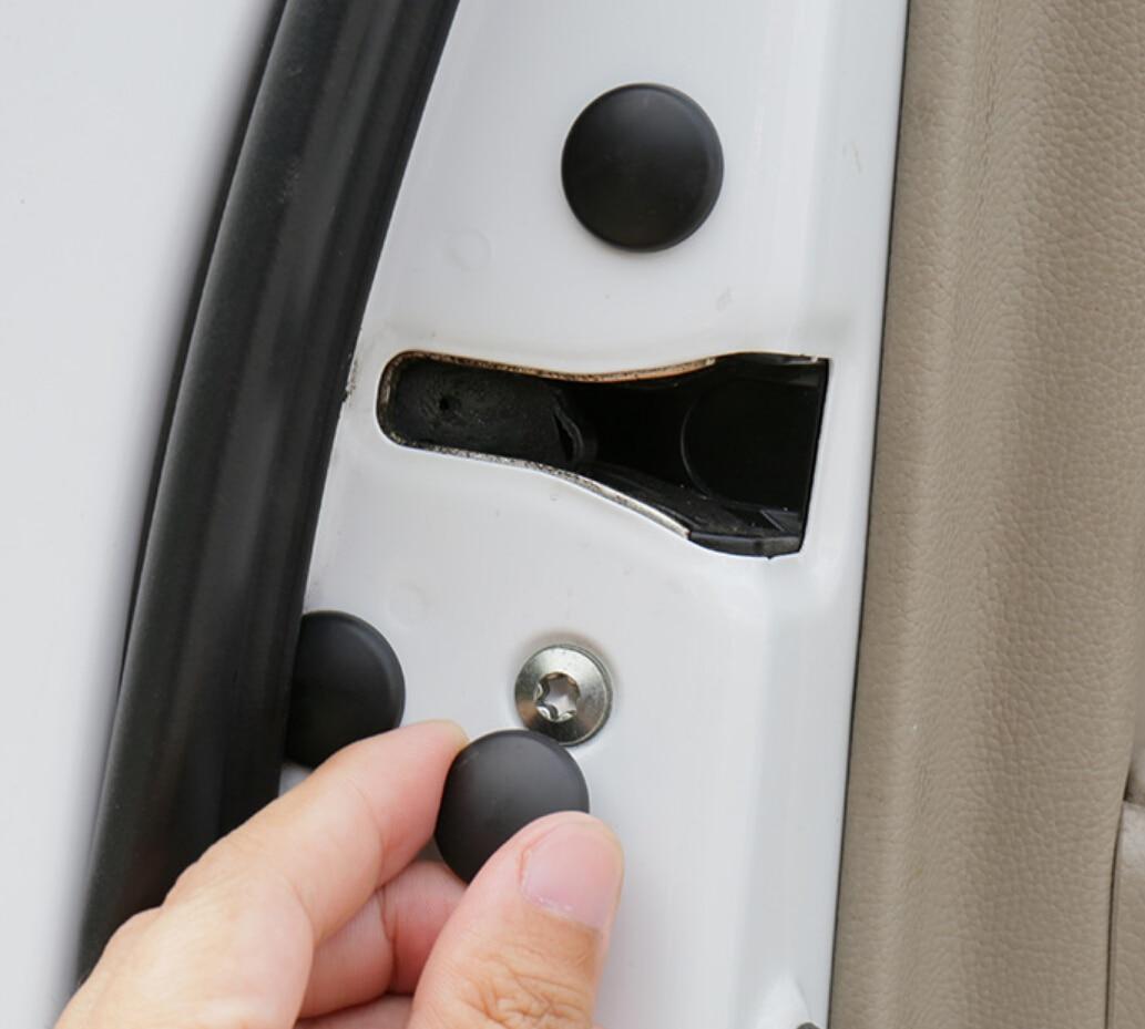 12 unids/lote cerradura de la puerta del coche cubierta protectora de tornillo para Kia Sportage R KX5 QL K2 Hyundai Tucson 2015-2017 Ix35 Verna Solaris