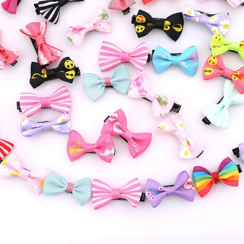 20/50 unids/pack mixto Color Bowknot niños bebé pelo lazo de Clip Pin pasador de horquilla de adorno accesorios para niñas