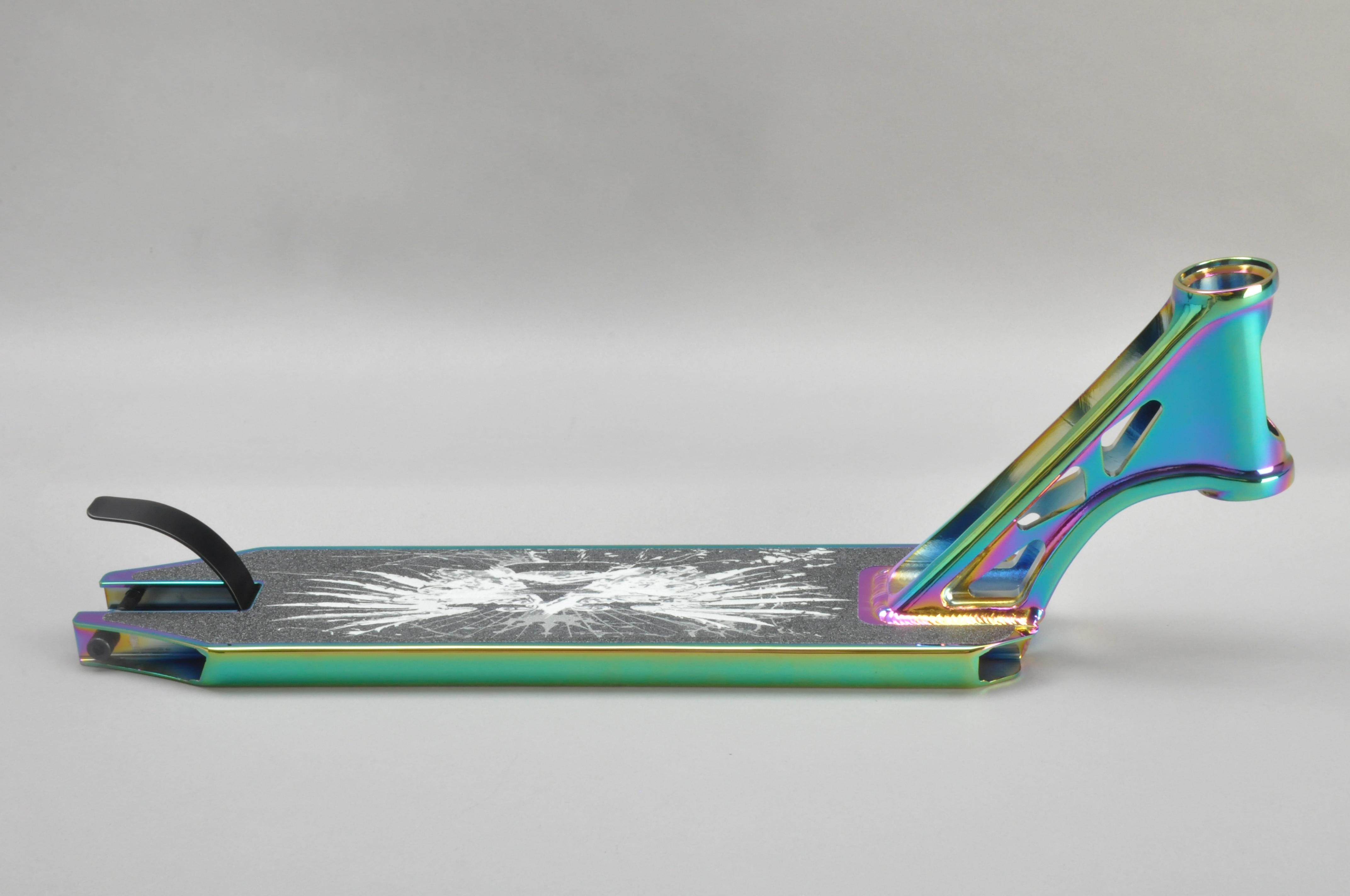 PVD color profesional OEM ODM 127*540mm de aleación de 6061 truco cubierta para patinete para 100/110/120mm de la rueda trasera
