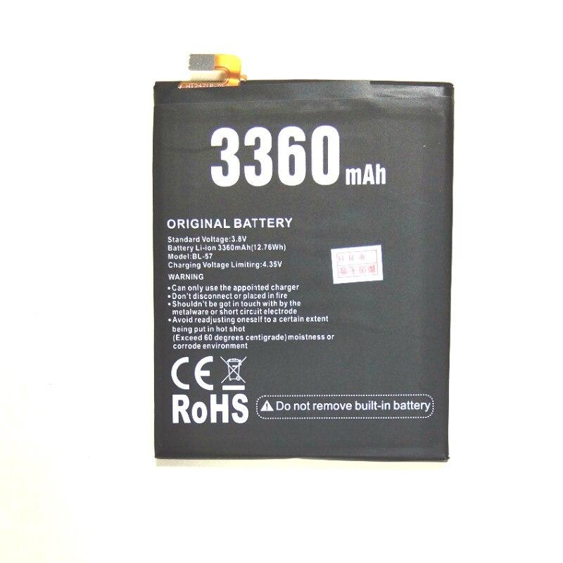 Empilhamento 3360 mah bateria para doogee atirar 2/BL-57/shoot2/mtk6580 5.0 polegada telefone móvel
