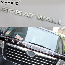 Autocollant demblème de refl de voiture   Autocollant de lettre de couverture de coffre de voiture pour grand mur de Haversian M4 H6 H3 ABS Chrome 1 pièce