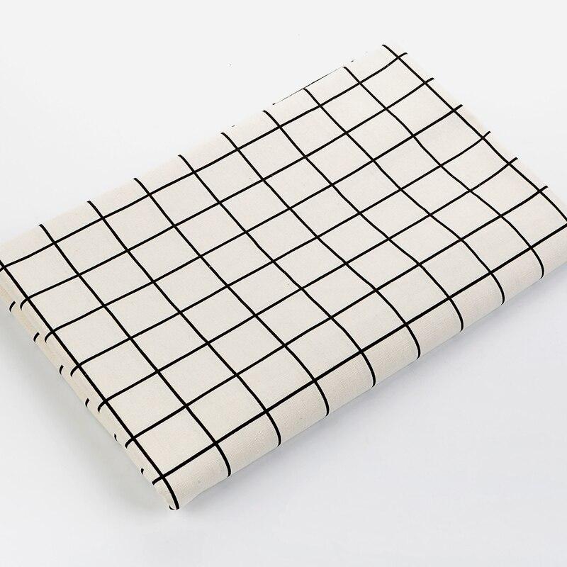 Tela Blanca de lino de algodón estampada para Patchwork, acolchado, costura DIY, funda para muebles, sofá, mesa, tela, bolsa de cortina, cojín