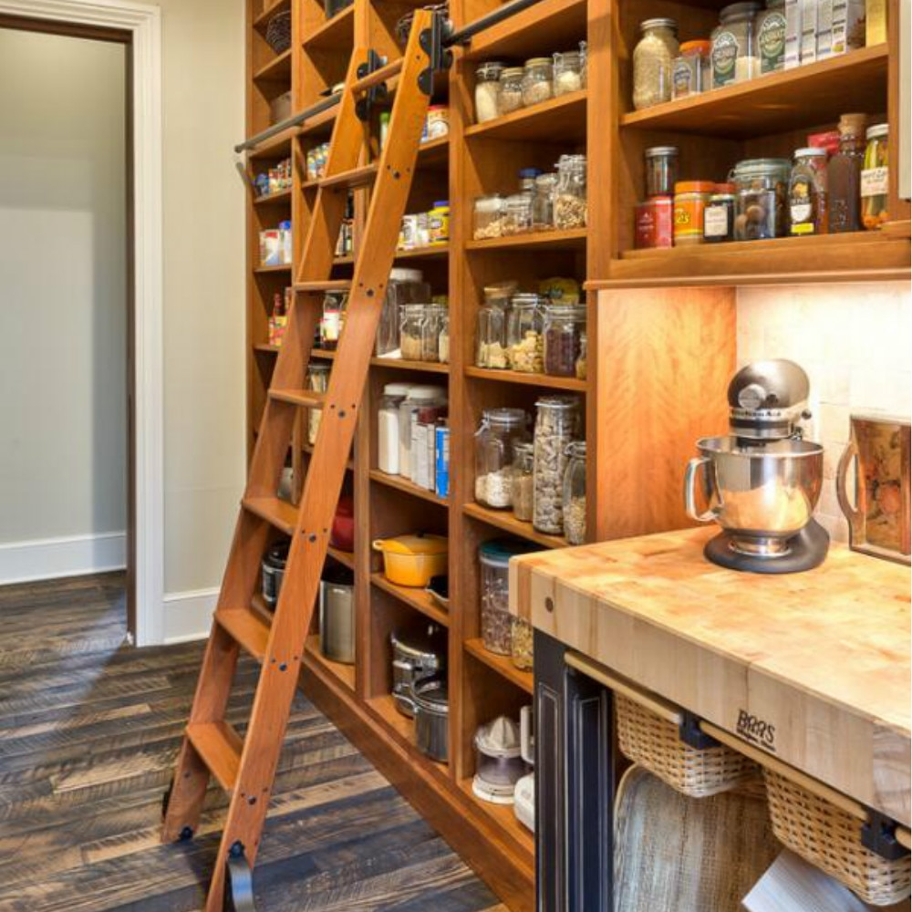 1m -10m  Black Sliding Modern Living Room Home Office Kitchen Storeroom Library Ladder Hardware Track Kit  (No ladder)