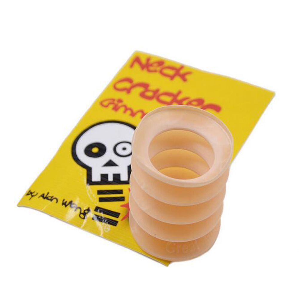 1 pc material plástico engraçado osso pescoço cracker gimmick ferramenta brinquedos magia close-up rua comédia palhaço truque som brinquedos