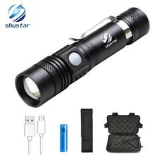 Lampe de poche LED rechargeable par usb T6 lampe à LED perle haute lumens torche LED lampe de poche étanche Ultra lumineuse avec batterie 18650