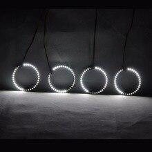 RGBW lampe tournante Angel Eyes   DRL, lumière roulante, multicolore, commande sans fil RF, pour BMW E30 E32 E34