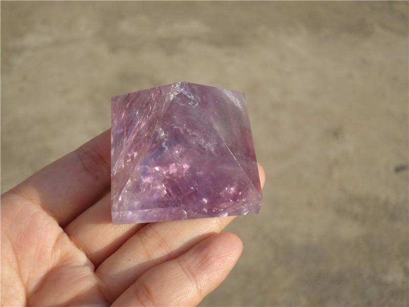 (40mm) 100% NATURAL amethyst pyramid quartz CRYSTAL POINT HEALING