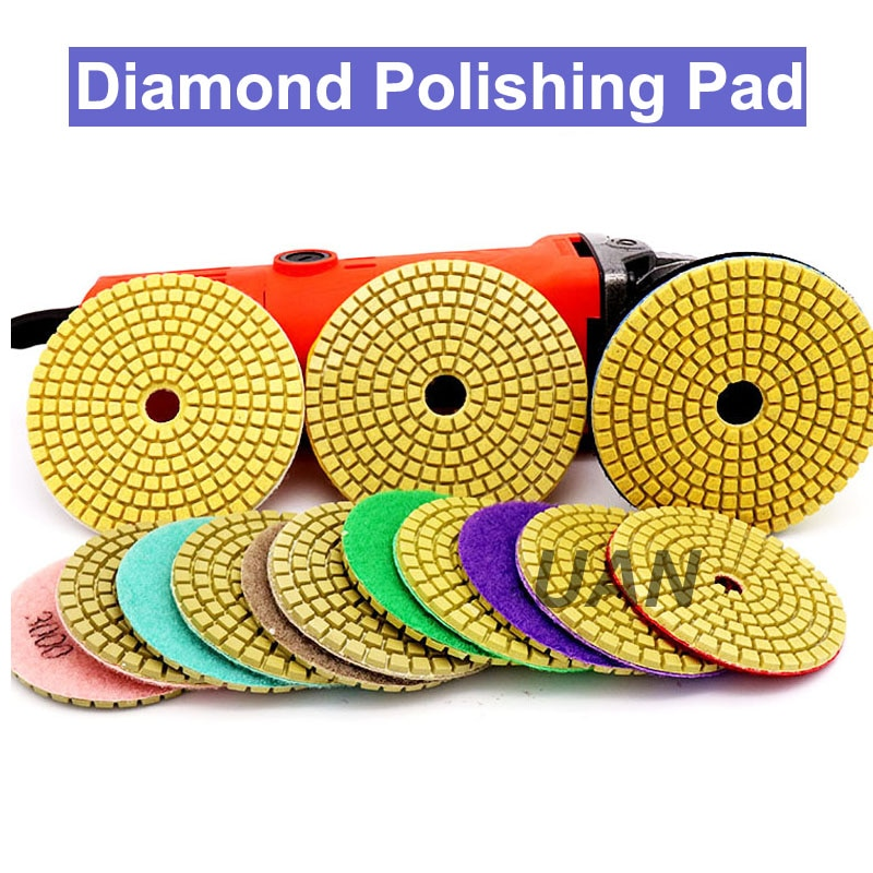 URANN 3'' inch 4'' inch Boutique Diamond Polishing Pads Flexible Granite Marble Concrete Stone Grinding Tiles Disc Hand Tools