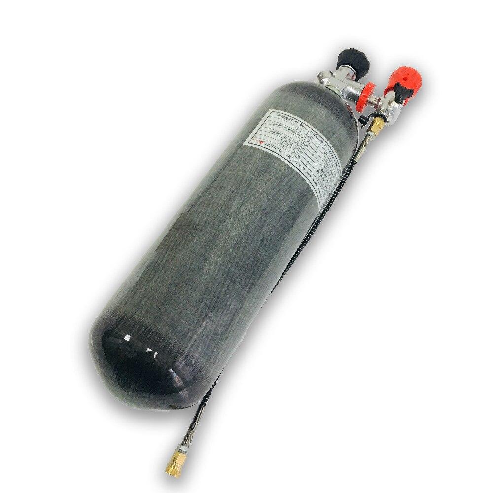 AC168301 6.8L ألياف الكربون Pcp محطة التزود بالوقود, مسدس هواء Pcp ، بندقية هوائية ، مضخة ضغط عالي ، بندقية صيد ، نطاق Acecare