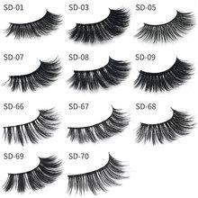 2pcs Eyelashes 3D Mink Lashes Luxury Hand Made Mink Eyelashes Medium Volume Cruelty Free Mink False Eyelashes Upper Lashes