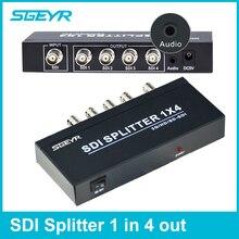 SGEYR 3G HD SDI Splitter 1x4 con salida de Audio de 3,5mm SDI distribución Splitter1 entrada 4 salida para la cámara del Monitor del proyector