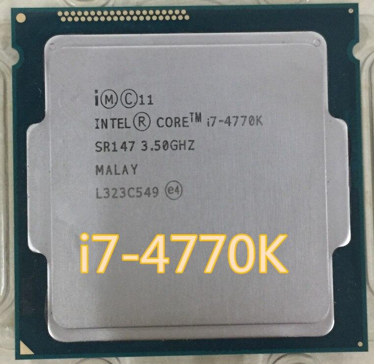 Intel Core i7 4770K i7-4770K SR147 3,5 GHz Quad-Core CPU Intel I7-4770K escritorio procesador