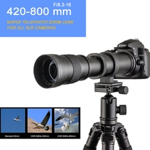 420-800mm F/8.3-16 DSLR Super téléobjectif Zoom manuel + sac pour Canon Nikon Pentax Olympus Sony A6500 A7SII 6300 GH4