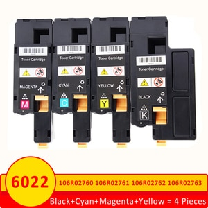 Xiangyu 4 Pieces for Xerox 6020 6022 toner cartridge 106R02760 106R02761 106R02762 106R02763  Phaser 6020 Workcentre 6025 6027