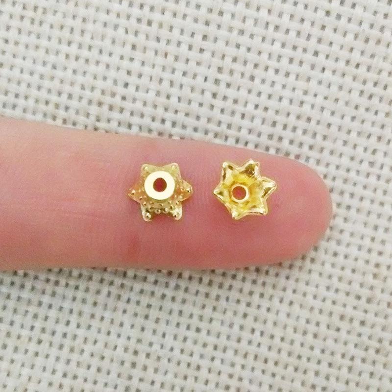 150pcs tassel caps flower beads cap end tassels charms findings component crimp Ends spacer Clasps Filigree component bijoux diy