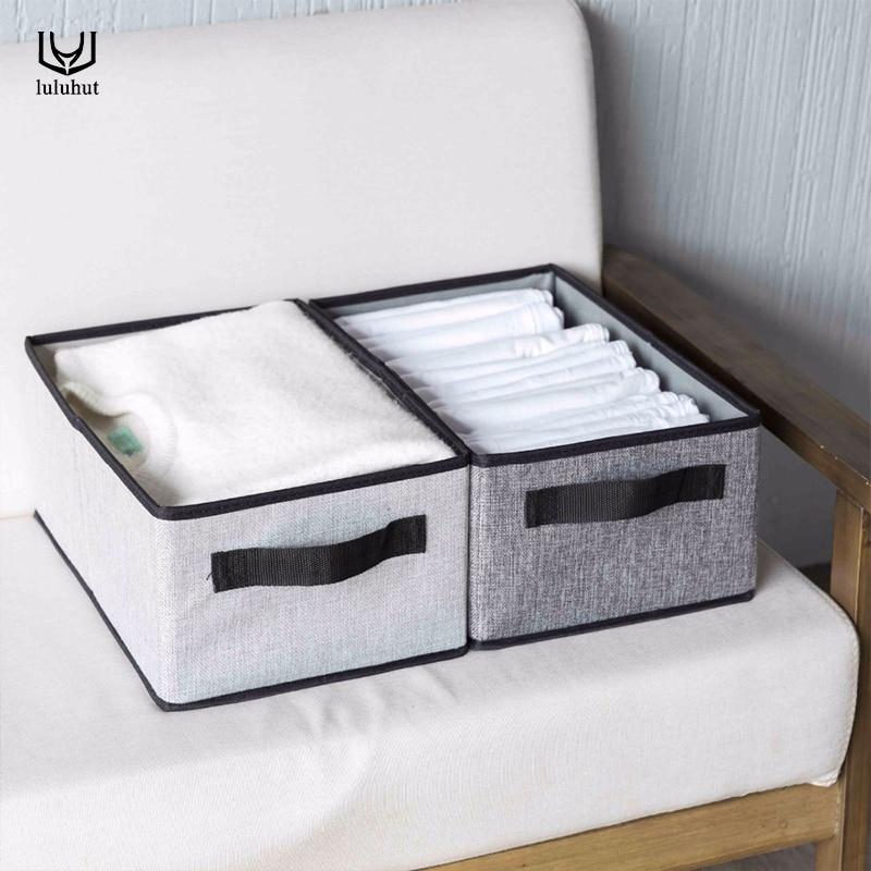 Nueva caja de almacenamiento de ropa interior plegable lavable luluhut, caja de almacenamiento de algodón para sujetadores