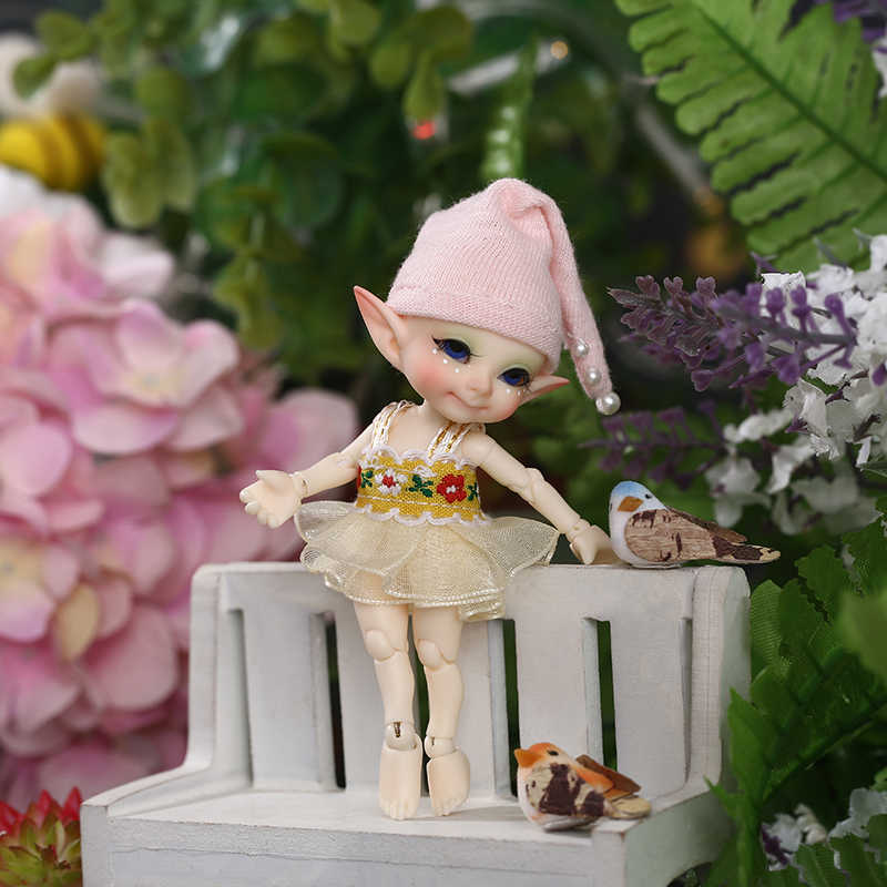 Free Shipping Fairyland Fl Realpuki Pupu Doll Bjd 1 13 Pink Smile Elves Toys Dolls Aliexpress
