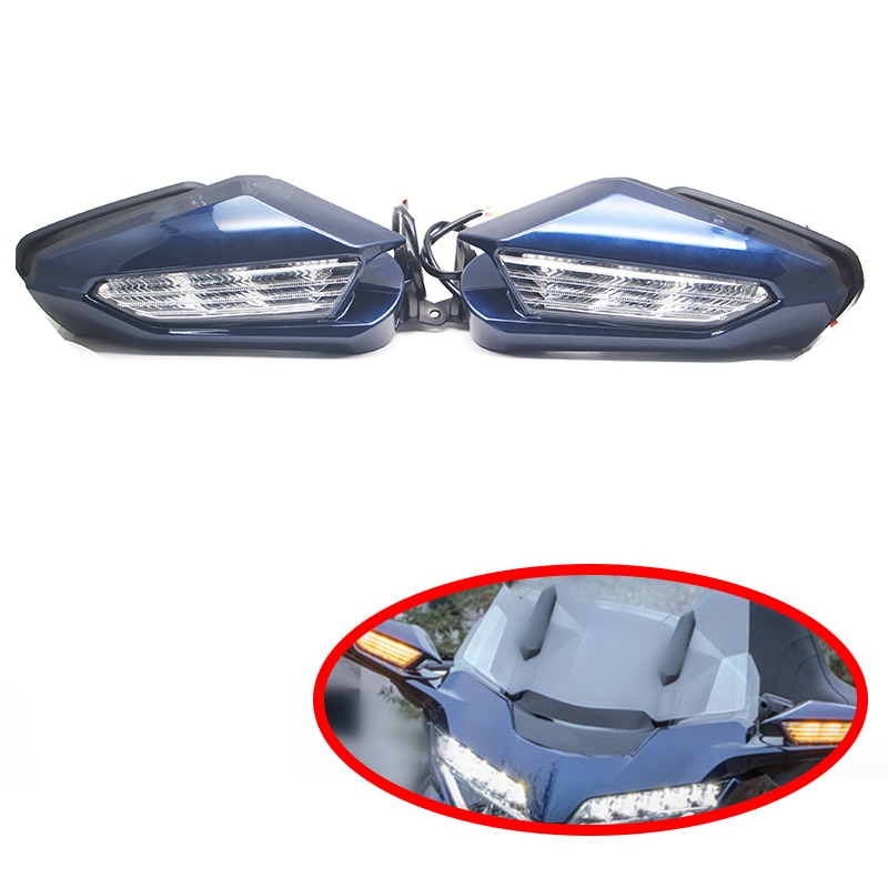 Nueva motocicleta para señal de giro de espejo retrovisor LED Kit para Honda Goldwing GL1800 2018 gl 1800
