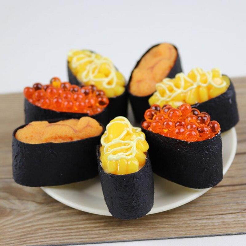 Alimentos artificiales decorativos PVC simulación japonés Sushi modelo falso cocina Catering Display Props