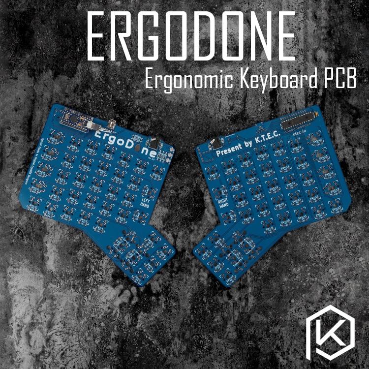 Ergodone إرجو مخصص الميكانيكية لوحة المفاتيح TKG-TOOLS PCB مبرمجة مريح لوحة المفاتيح عدة مماثلة مع إنفينيتي ergodox