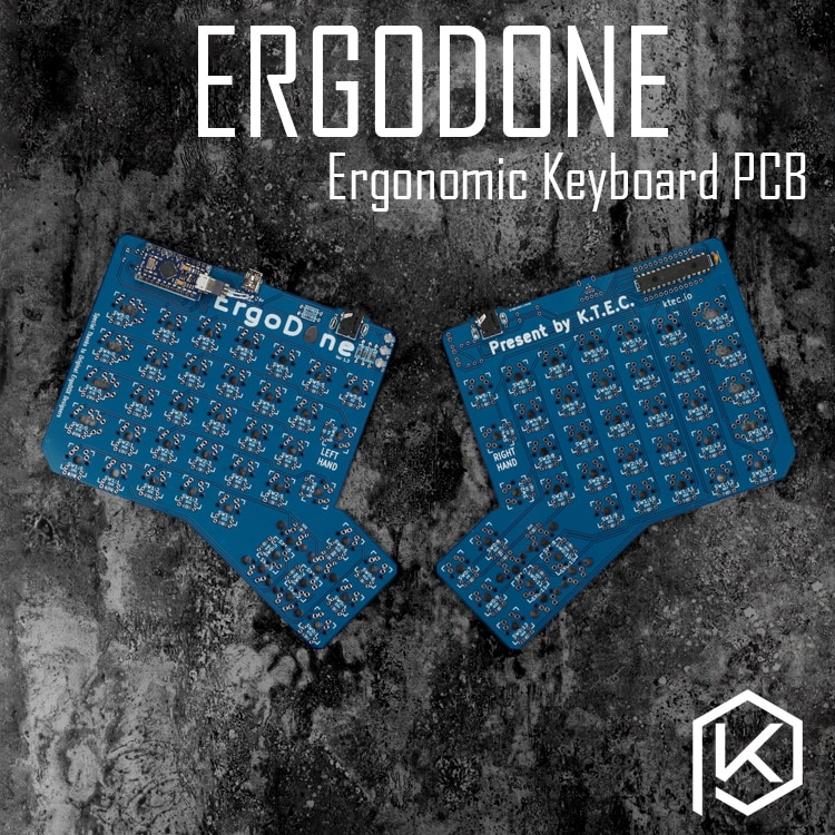 Ergodone ergo Teclado mecánico personalizado TKG-TOOLS PCB Kit de teclado ergonómico programado similar con infinity ergodox