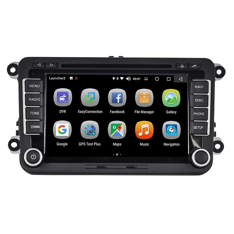 Android 8.0 Car DVD Radio  Player multimedia Bluetooth 7 Inch 2 Din 4GB/32GB GPS Navigation for VW golf polo eos Jetta Caddy
