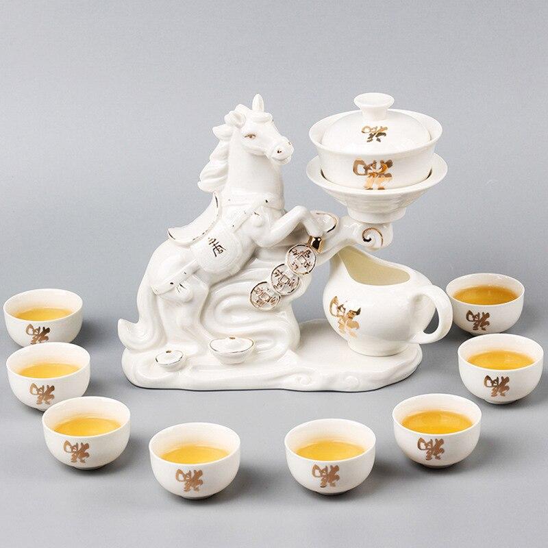 شحن مجاني 11 قطع مجموعة عالية الجودة طقم شاي من السيراميك الإبداعية التلقائي الكونغ فو الشاي مجموعة حفل الشاي طقوس هدية