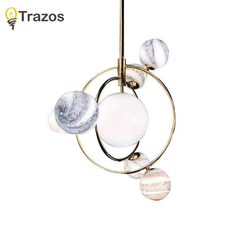 Trazos Nordic Style Ceiling Lights For Living Room Round Surface Mount Gold Bedroom Lamp Glass Ceiling Lamp Dining Luminaire  - buy with discount