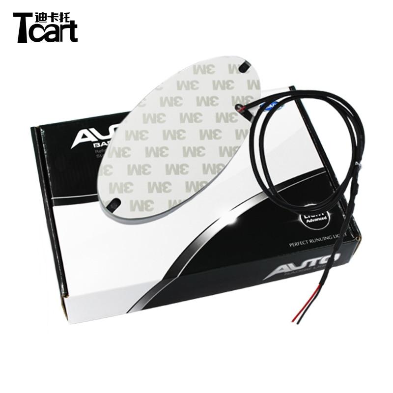Tcart 14.5x7.2cm 13x6.5cm 1 set  4D led car light for Hyundai Santa Fe ix35 ix20 ix25 i10 i20 i30 i40 Sonata Genesis