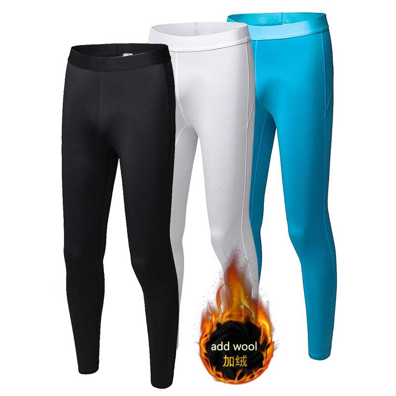 Winter wärmer Hinzufügen Wolle Elastische Laufhose Compression Enge Dünne Anzüge Fitness Gym Übung Training Sport Yoga Leggings