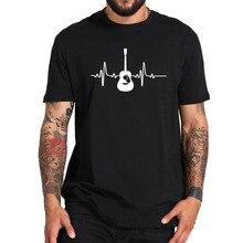 Guitare T-Shirt Musique Mode O-cou Décontracté Tshirt 100% Coton Respirant Top De Fitness Hip Hop T-Shirt