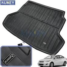 Tapete de carga, bandeja para maletero, forro para maletero, alfombra para Hyundai I25 Accent Blue Verna Solaris Sedan 2011 2012 2013 2014 2015 2016 2017