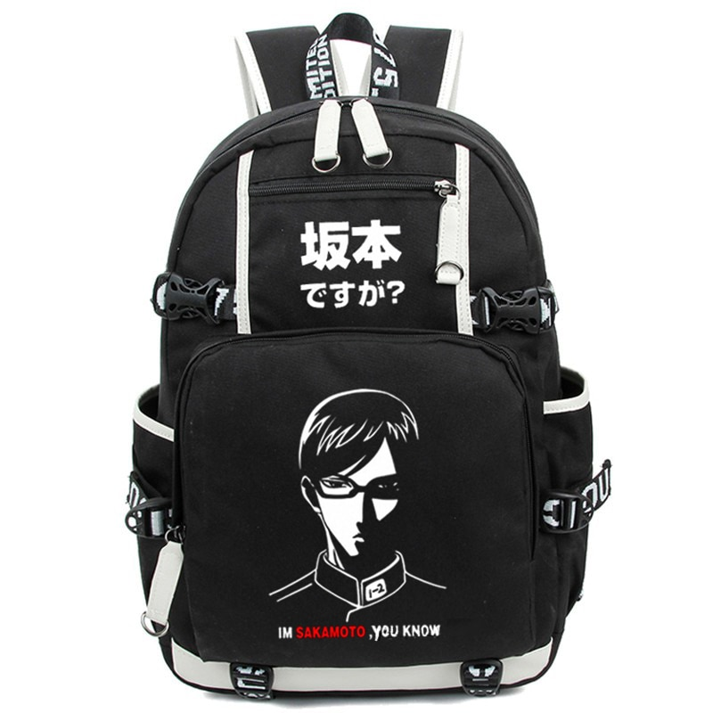 Mochila de nailon de dibujos animados de Japón Anime Sakamoto Desu Ga bolso de hombro mochila de viaje mochilas para ordenador portátil