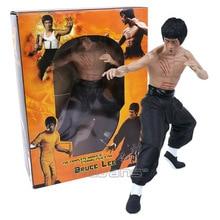 Jouets de figurine Bruce Lee Kong Fu maître Bruce Lee vinyle modèle à collectionner jouet 3 Types 33cm