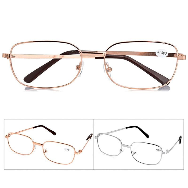 New Metal Óculos de Leitura Anti-fadiga Homens/Mulheres Full Frame Eyewear + 1.00 1.50 2.00 2.50 3.00 3.50 4.00 Dioptria