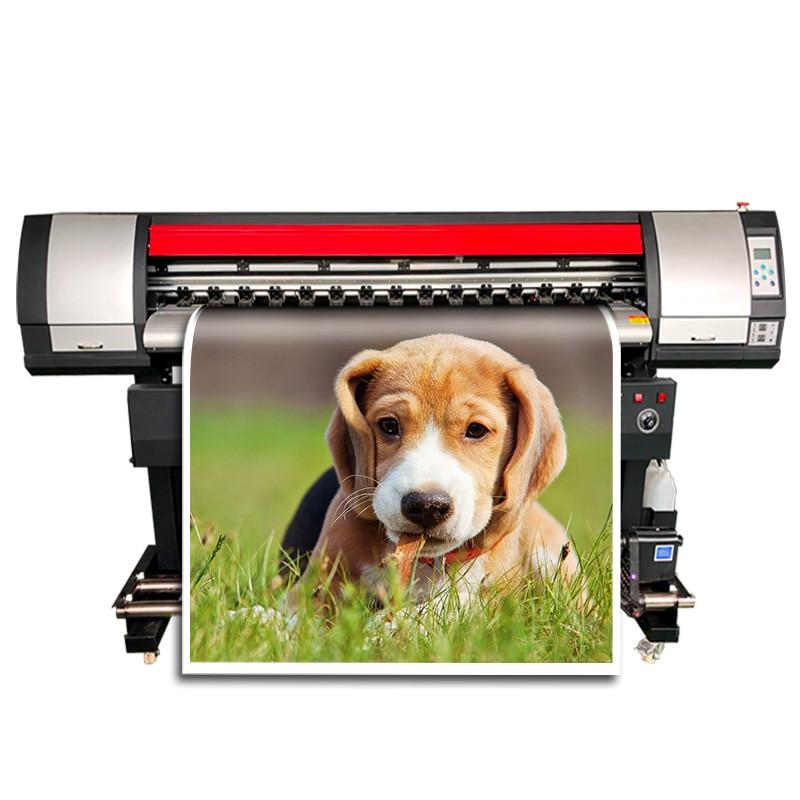 Máquina de impresión flexible DX5 cabezal de impresión CMYK Vinyle pegatina impresora de Banner gran formato Plotter de inyección de tinta 1600mm impresora de Pvc