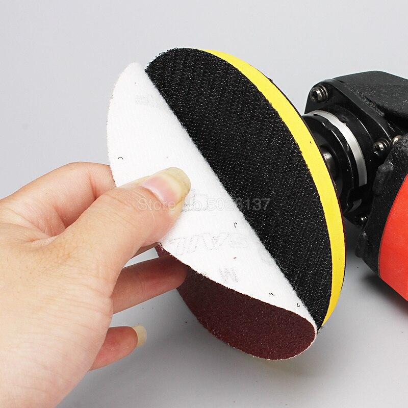 1 pz 5 pollici 125mm rotondi dischi di carta vetrata fogli di sabbia - Utensili abrasivi - Fotografia 3
