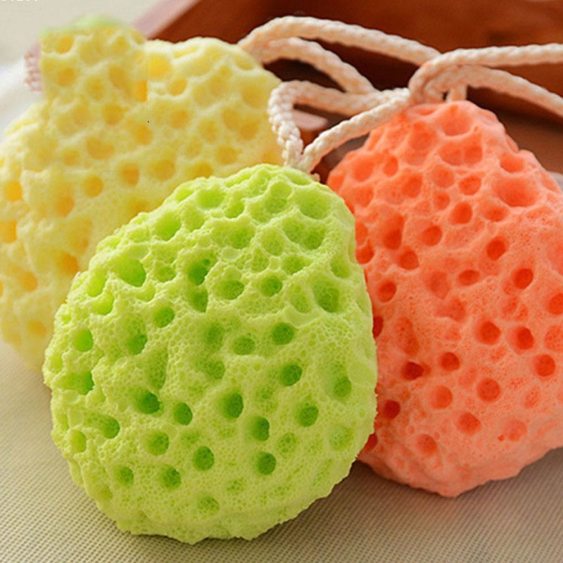 Honeycomb Shape Newborn Baby Kids Bath Sponge Brushes Massage Baby Shower Exfoliating Body Face Clea
