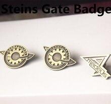 Аниме Steins Gate 0 Makise Kurisu Labmem Amadeus значок для косплея металлическая брошь