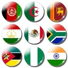 Aimant de réfrigérateur drapeau National   Autocollant pour réfrigérateur, Afghanistan, algérie, Sri Lanka, soudan, mexique, sud afrique, Mozambique, Nigeria