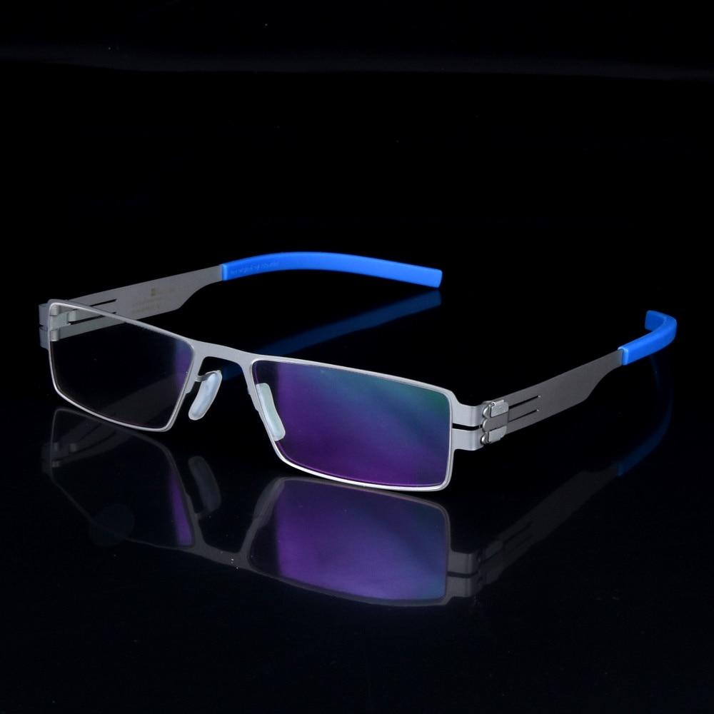 Ultra-thin and light glasses frame men myopia spectacles frames Germany brand Oculos De Grau with original case